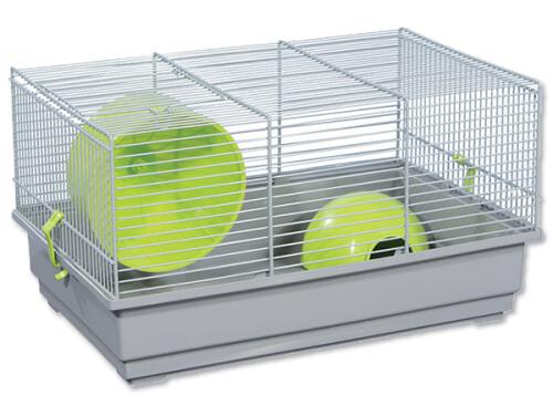 Klec SMALL ANIMAL Richard šedá se zelenou výbavou ()