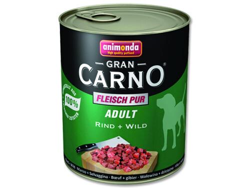 Animonda konzerva pes Gran Carno Hovězí/Zvěřina 800g