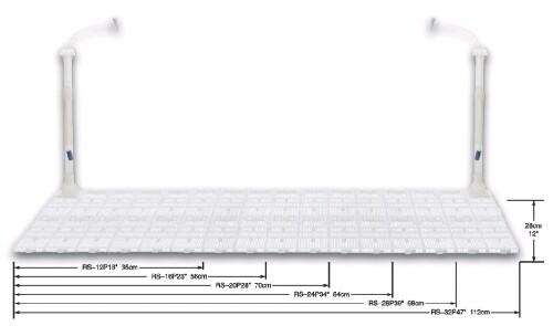 Resun - půdní filtr RS-28P, 98x30cm, 1 výstup